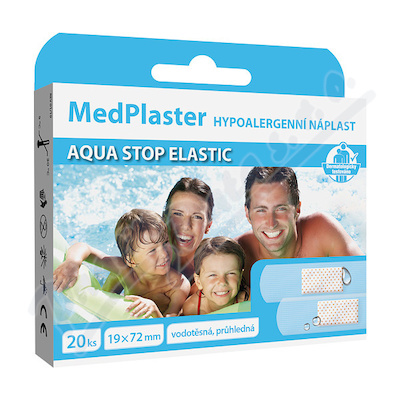 MedPlaster Náplast AQUA stop elastic 19x72mm 20ks
