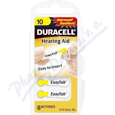 Duracell DA10 EasyTab baterie do naslouchadel 6ks