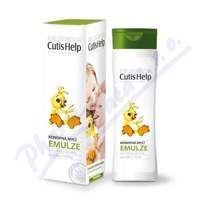 CutisHelp konopná mycí emulze dětská 200 ml