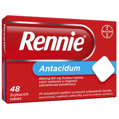 Rennie 48 žvýkacích tablet