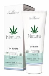 Cannaderm Natura 24 krém na mastnou pleť 75 g