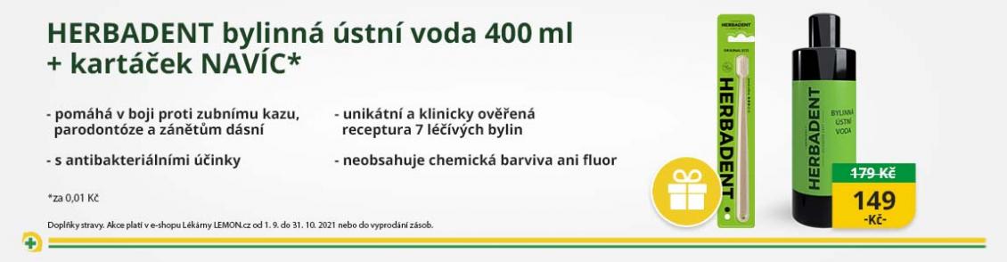 HERBADENT ORIGINAL bylinná ústní voda 400ml NEW